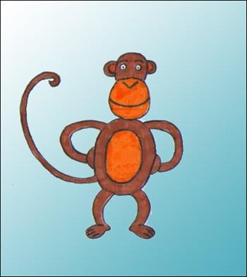 Comment dessiner un singe - Dessin de babouin ...