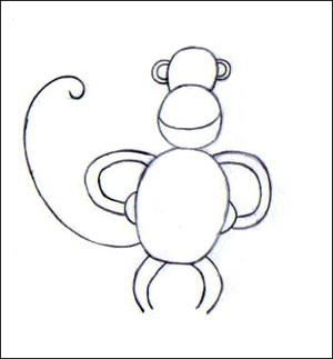 comment dessiner un gorille