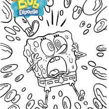 Coloriage de Bob l'éponge qui panique - Coloriage - Coloriage DESSINS ANIMES - Coloriage BOB L'EPONGE - Coloriages BOB L'EPONGE