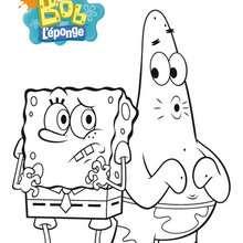 Coloriage Bob l'éponge : Le sifflement stressant de Patrick