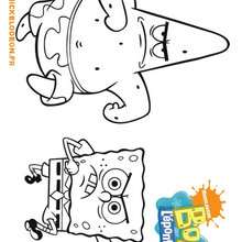 Coloriage de Bob et Patrick en colre! - Coloriage - Coloriage DESSINS ANIMES - Coloriage BOB L'EPONGE - Coloriage PATRICK