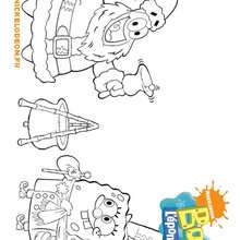 Coloriage de Bob l'eponge et le Pre-Noel - Coloriage - Coloriage DESSINS ANIMES - Coloriage BOB L'EPONGE - Coloriages BOB L'EPONGE