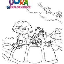 Coloriage de Dora et ses amis - Coloriage - Coloriage DORA - Coloriages DORA