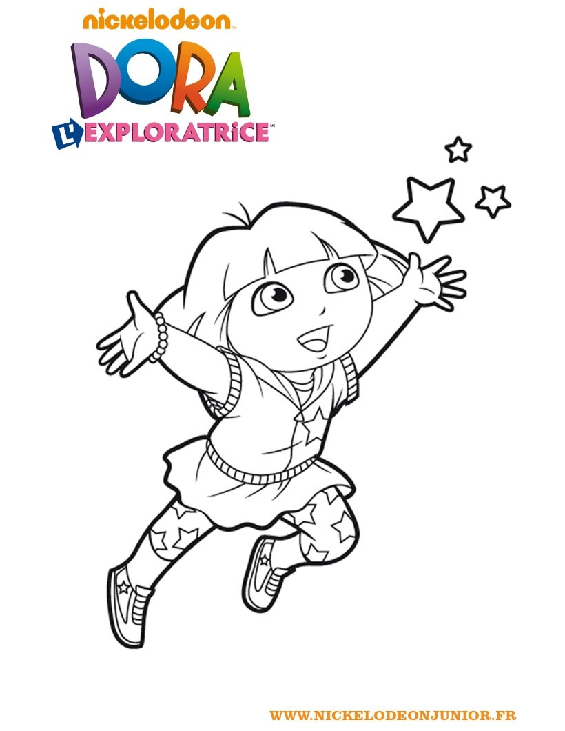 Coloriages coloriage de dora l 39 exploratrice - Dessiner dora ...