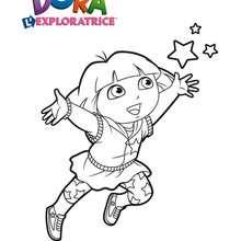 Coloriage dora coloriages coloriage imprimer gratuit - Dessin anime dora exploratrice gratuit ...