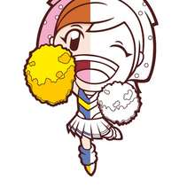 Coloriage de Cooking Mama en pompom girl