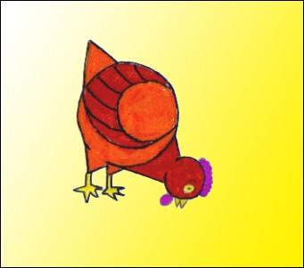 poule dessin