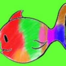 Fiche bricolage : Exposition de poissons multicolores