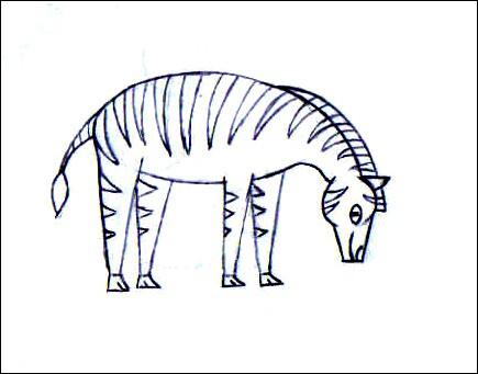 Comment dessiner un z bre - Dessin zebre facile ...