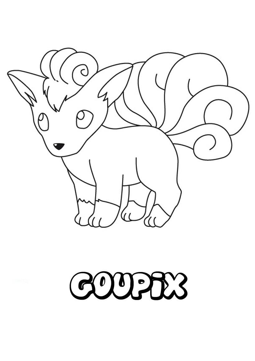 Coloriage : Goupix