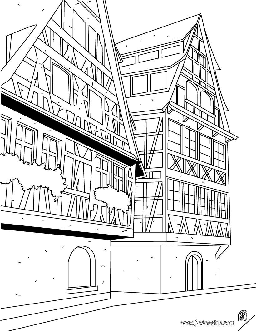 Coloriages Coloriage D Une Maison 224 Strasbourg Fr