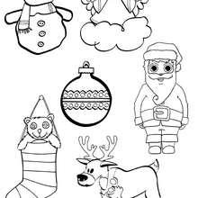Activité : Motifs de Noel à imprimer et colorier