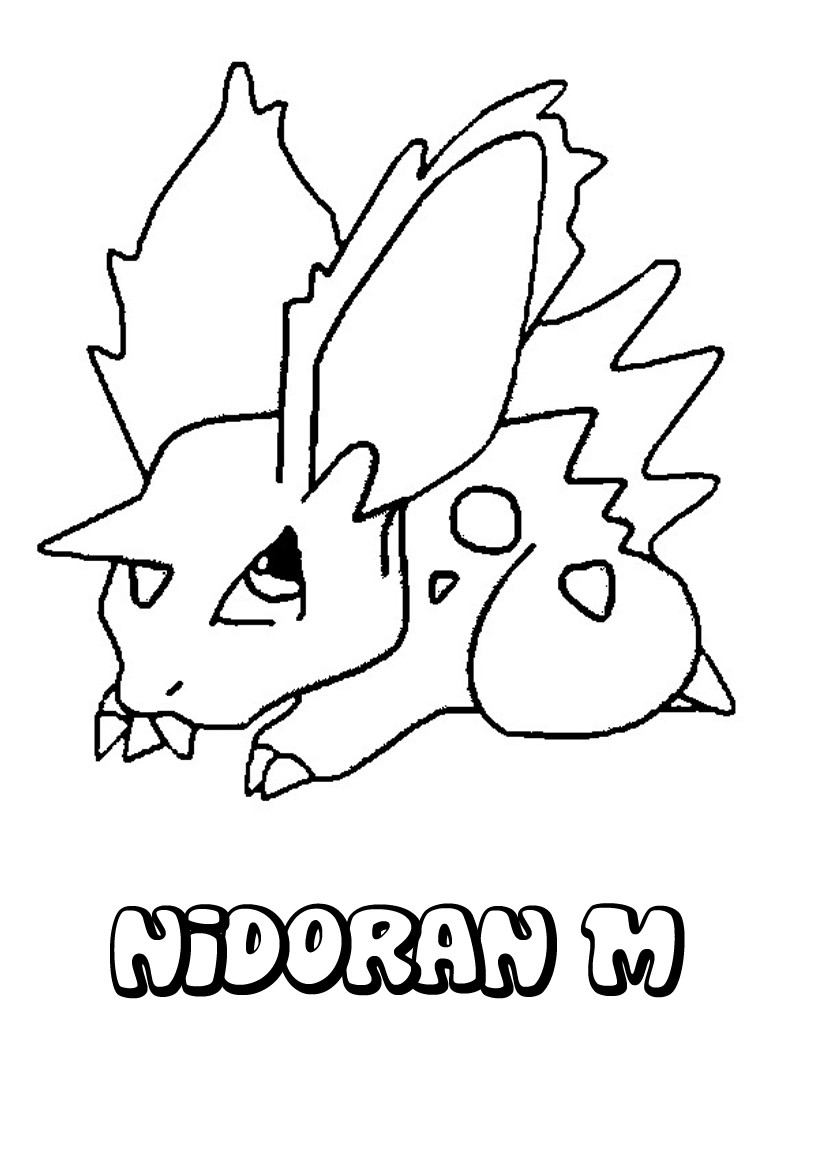 Unique Coloriage Pokemon Nidoran Male