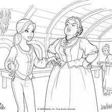 Coloriage Barbie : Coloriage de Corinne et Madame Debosse