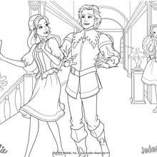Coloriage de Corinne et le Prince Louis - Coloriage - Coloriage BARBIE - Coloriage BARBIE ET LES 3 MOUSQUETAIRES - Coloriage CORINNE