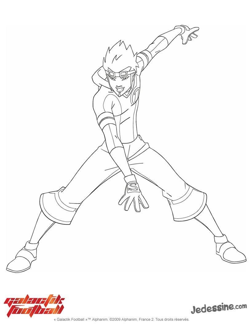 Coloriage d Ahito Galactik Football Packshot