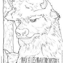 Coloriage MAX ET LES MAXIMONSTRES de Bull