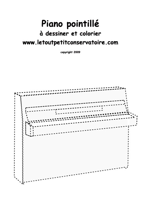 Coloriages dessine un piano - Coloriage piano ...