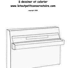Dessine un piano - Coloriage - Coloriage GRATUIT - Coloriage INSTRUMENTS DE MUSIQUE