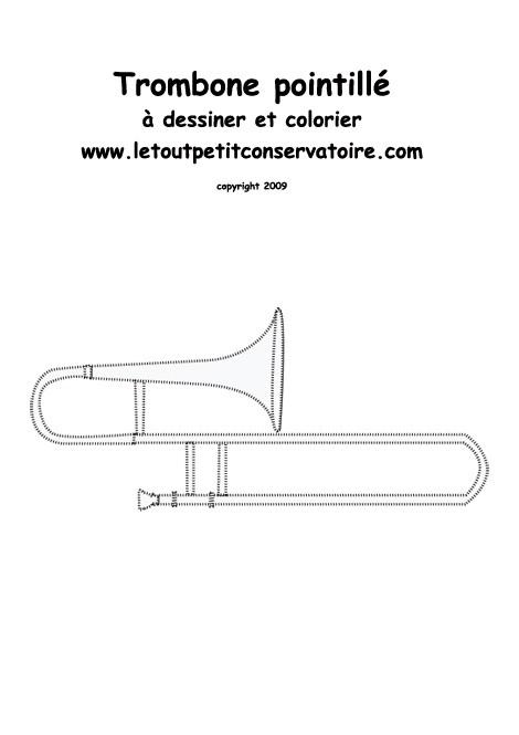 Coloriage : Dessine un trombone