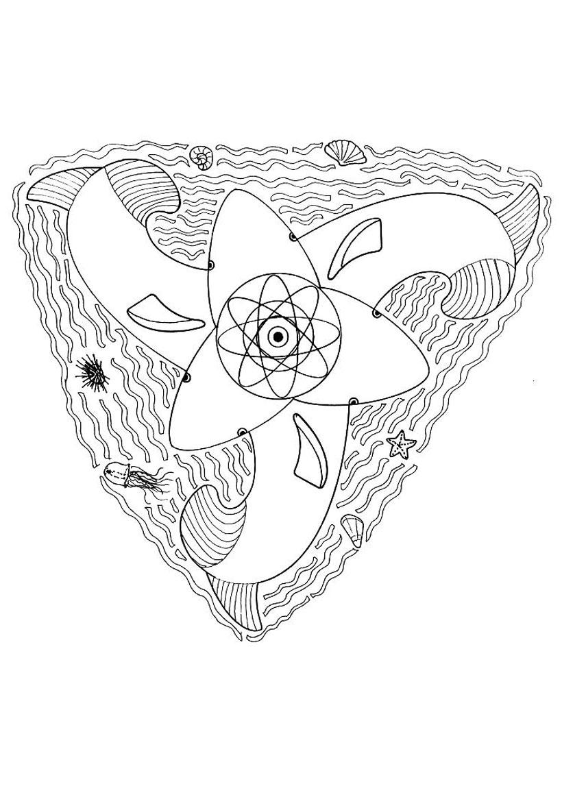 Coloriage De Mandala Danimaux.Coloriages Chat Mandala Fr Hellokids Com
