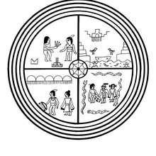 Mandala : Coloriage de Hopis, la légende du serpent