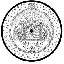 Coloriage d'un mandala d'Inde (sphères cosmiques) - Coloriage - Coloriage MANDALA - MANDALAS DU MONDE à colorier