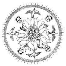 Coloriage du Mandala qui célèbre la vie