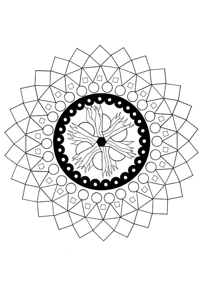 Mandala : Les quatre éléments
