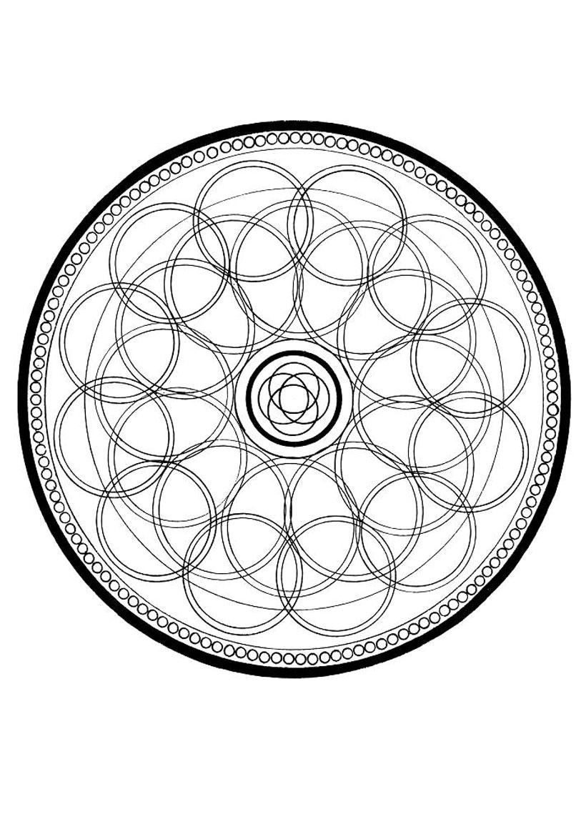Coloriage d un mandala en cercles
