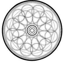 Coloriage d'un mandala en cercles