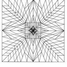 Coloriage d'un mandala formant des étoiles
