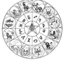 Coloriage du Mandala des signes du Zodiaque