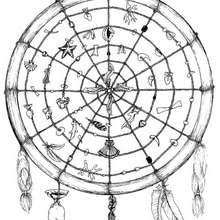 Mandala : Coloriage de la roue médicinale