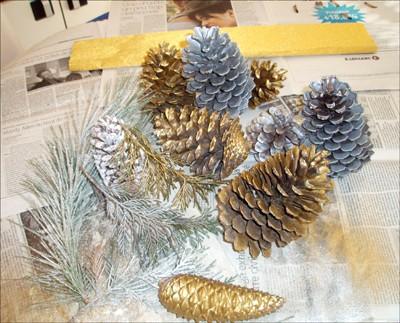 Decoration Noel Avec Pignes Pin