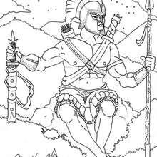 Coloriage du dieu grec Ares - Coloriage - Coloriage HISTOIRE ET PAYS - Coloriage MYTHOLOGIE GRECQUE