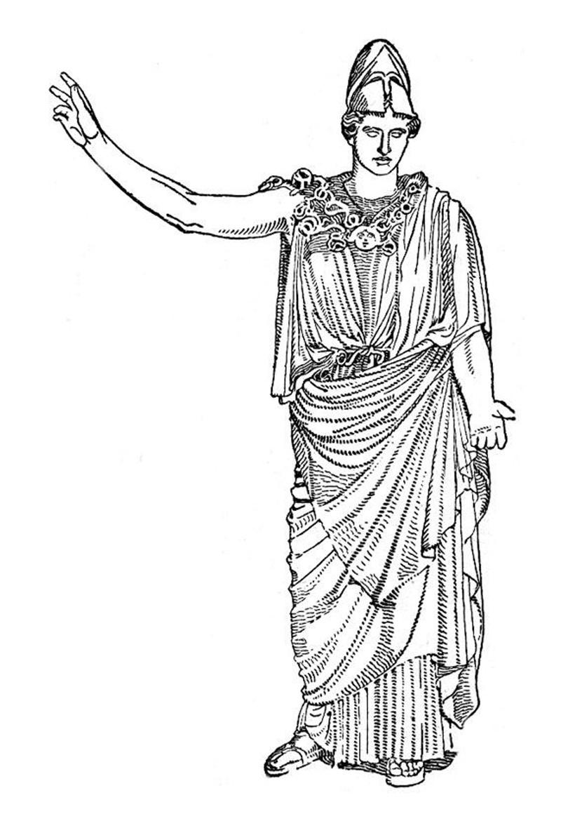 Coloriages coloriage du dieu grec artemis - fr.hellokids.com