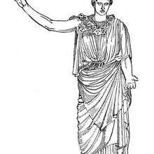 Coloriage du dieu grec Artemis - Coloriage - Coloriage HISTOIRE ET PAYS - Coloriage MYTHOLOGIE GRECQUE