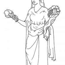 Coloriage de la déesse Déméter - Coloriage - Coloriage HISTOIRE ET PAYS - Coloriage MYTHOLOGIE GRECQUE