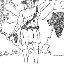 Coloriage du dieu grec Dionysos - Coloriage - Coloriage HISTOIRE ET PAYS - Coloriage MYTHOLOGIE GRECQUE