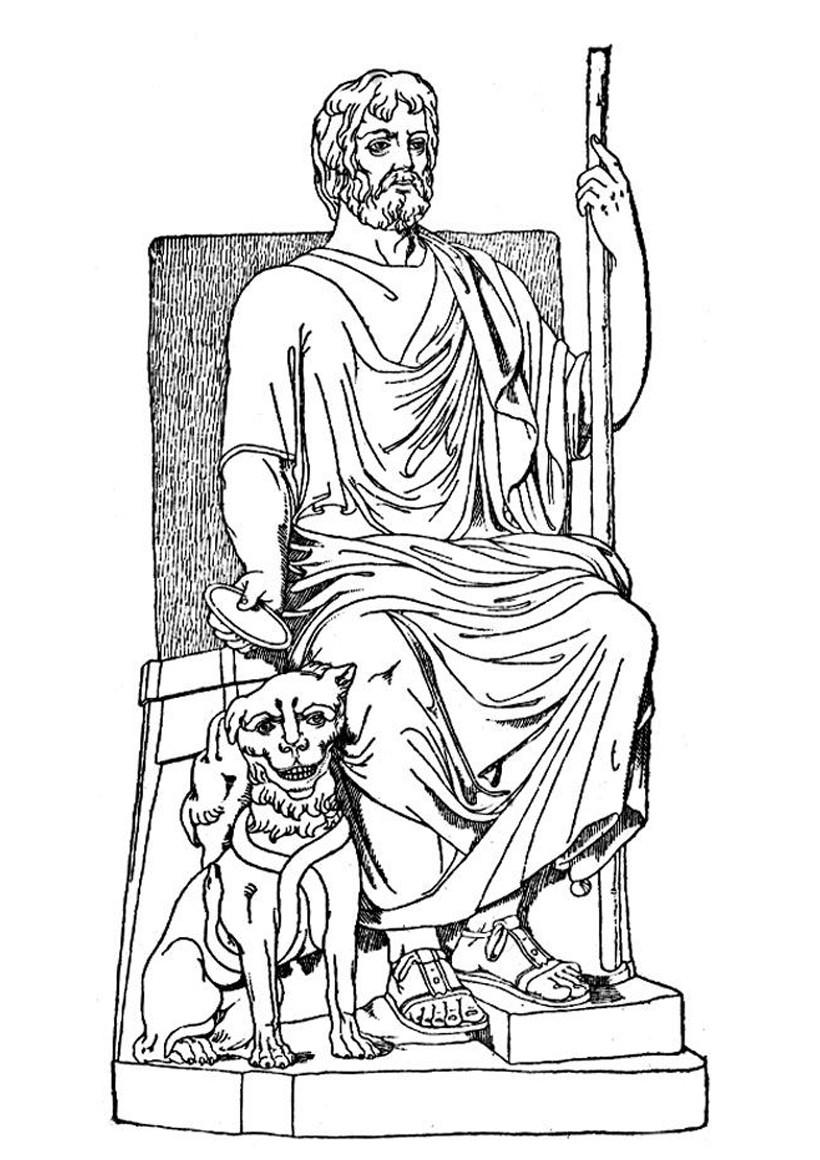 hades coloring page coloriages coloriage du dieu grec had s