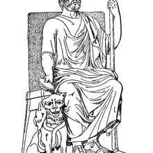 Coloriage du dieu grec Hadès - Coloriage - Coloriage HISTOIRE ET PAYS - Coloriage MYTHOLOGIE GRECQUE