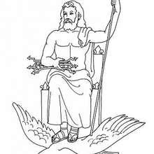 Coloriage du dieu grec Zeus - Coloriage - Coloriage HISTOIRE ET PAYS - Coloriage MYTHOLOGIE GRECQUE