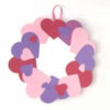 Fabriquer une couronne de coeurs pour la St Valentin