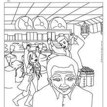 Coloriage de Jeanne à l'épicerie - Coloriage - Coloriage PERSONNAGE BD - Coloriage JEANNE POESIE