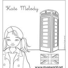 Coloriage de Kate à Londres - Coloriage - Coloriage PERSONNAGE BD - Coloriage JEANNE POESIE