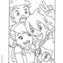 Portrait de Toby, Jessica, Nick et Lucas - Coloriage - Coloriage GORMITI - L'ERE DE L'ECLIPSE SUPREME - Coloriage GORMITI - Coloriage ENFANTS - Coloriage ENFANTS GORMITI