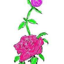 Dessin d'enfant : Rose