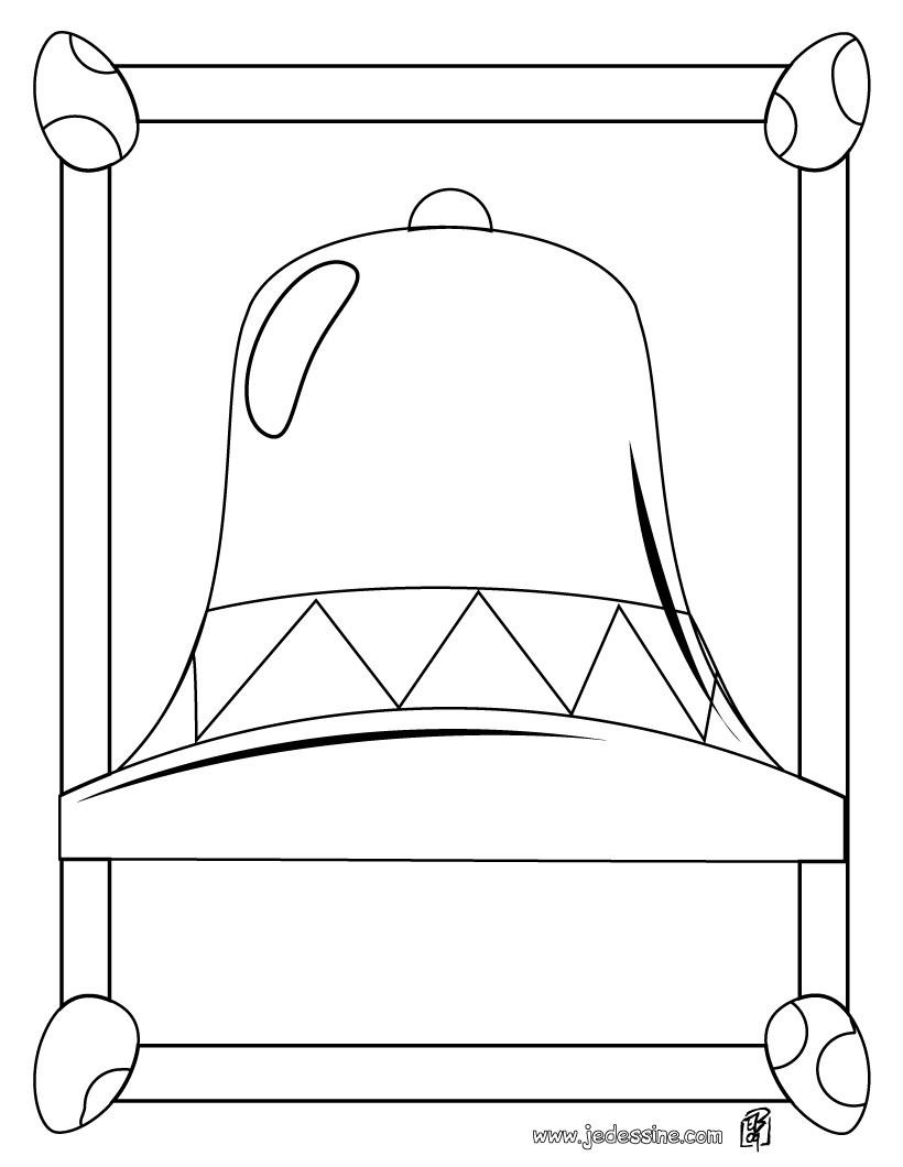 Coloriages coloriage d 39 une grosse cloche de p ques fr - Dessin d une cloche ...