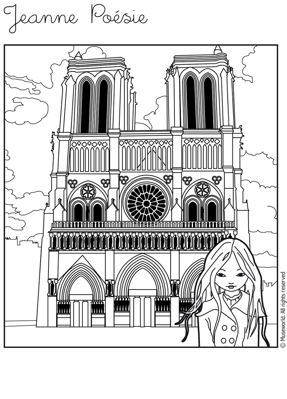 Dessin De Notre Dame De Paris